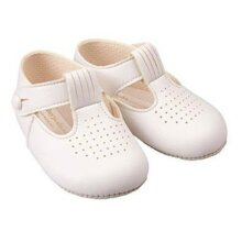 Baby Boys T-Bar Shoes - Traditional Pram Soft Sole Pre-walkers