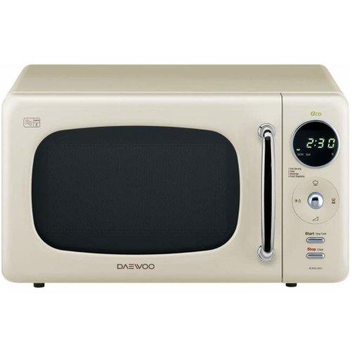 Daewoo KOR9LBKCR Cream 800W Touch Control 20L Microwave