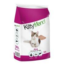 SANICAT KITTY FRIEND 30L PINK NON CLUMPING CAT LITTER 99% DUST FREE