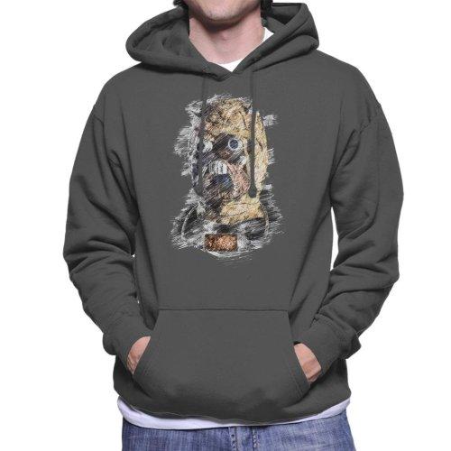 Original Stormtrooper Tusken Raider Mask Sketch Men's Hooded Sweatshirt