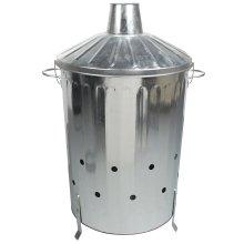 Simpa 90L Galvanised Steel Incinerator with Locking Lid