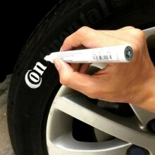 Car Tyre Tire Metal Wood Paint Pen Permanent Oil Based Marker White