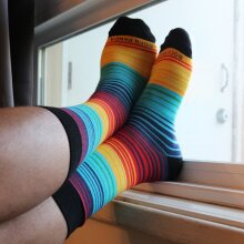 Vibrant Rainbow Stripes Sock