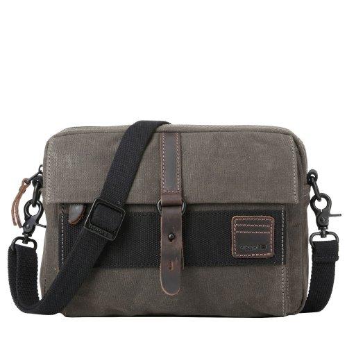 TRP0479 Troop London Classic Canvas Messenger Bag | Buy Bags Online | Canvas Messenger Bags | leather canvas backpack