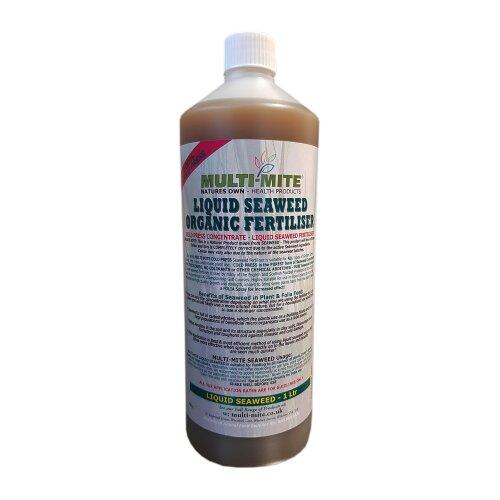 MULTI MITE - 1 Litre PURE Liquid Seaweed Concentrate Organic