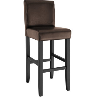 Breakfast bar stool made of artificial leather brown