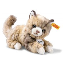 Steiff Lucy Cat Plush Animal Toy, Spotted Brown