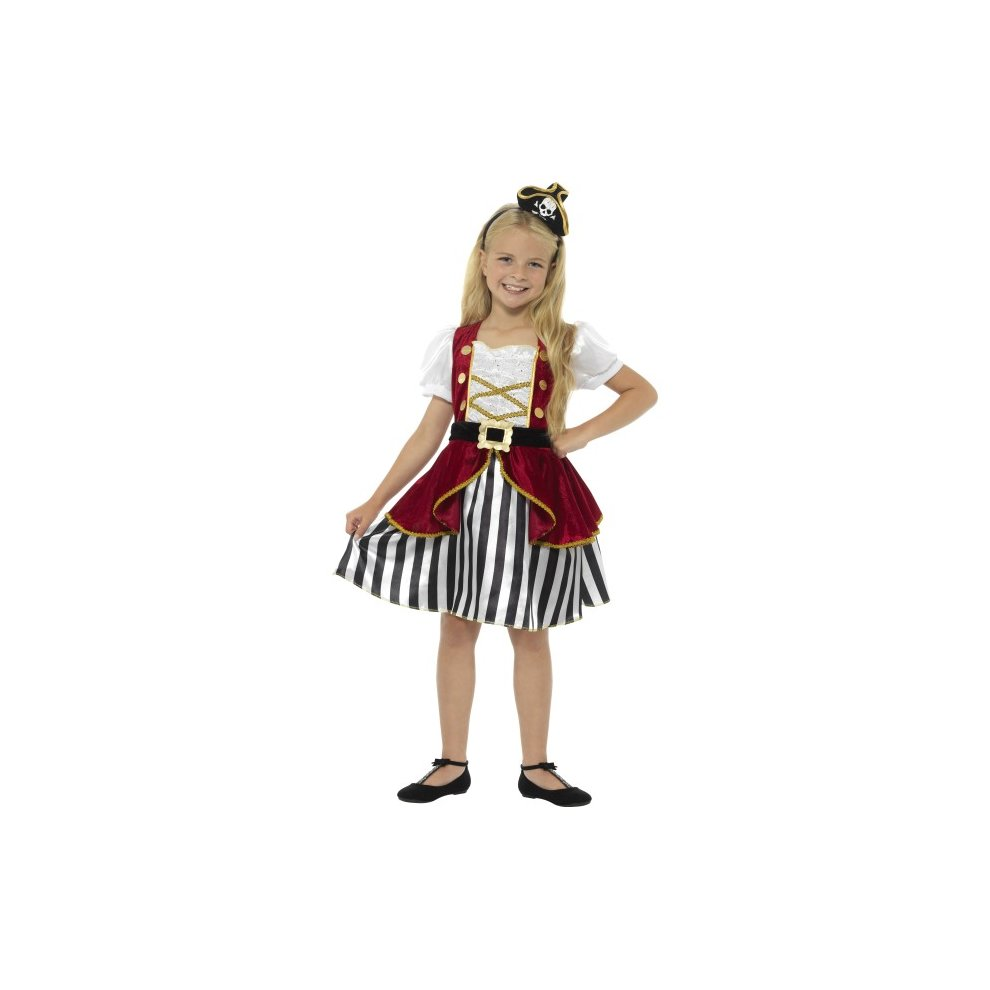 Red Pirate Captain Boys Fancy Dress Carribean Buccaneer Kids Book Day Costume