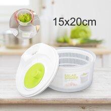 Large Salad Spinner Leaf Dryer Plastic Lettuce Veg Drainer Dressing