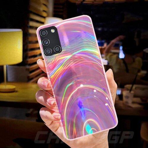 Rainbow Mirror Soft Glitter Cover Case For Samsung A51 A71 A01 A11 A31 A41 A50 A70 A20 A10 S20