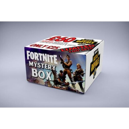 (£60 Standard Box for £25, Presents to suit a 5-6 Years Old) Fortnite Mystery Box SIZE