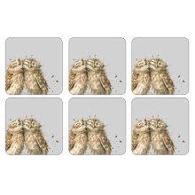 Wrendale Owl Coasters - Set of 6