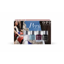 OPI Limited Edition Peru Collection Infinite Shine Mini, Pack of 4 x 3.75 ml