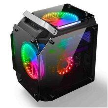 AlphaBetaPC Tempered Glass ATX Computer Case Air Cool PC Case