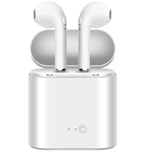 (i7s-NOPACKAGE-WHITE) i7s TWS Wireless Earphone 3D Bluetooth5.0 Headphones Android Headset For Iphone 7 8 plus x xr Xiaomi Mi 9T + Charging Box Sport