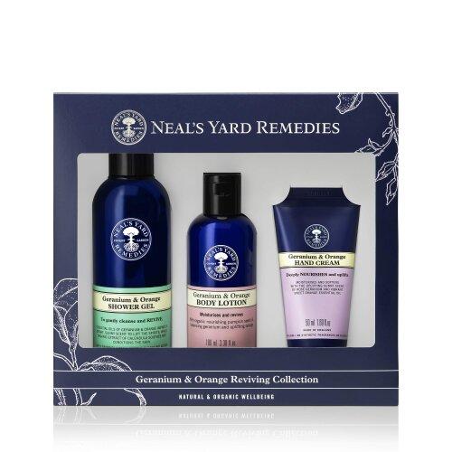 Neal's Yard Remedies Geranium and Orange Year Round Gift Set