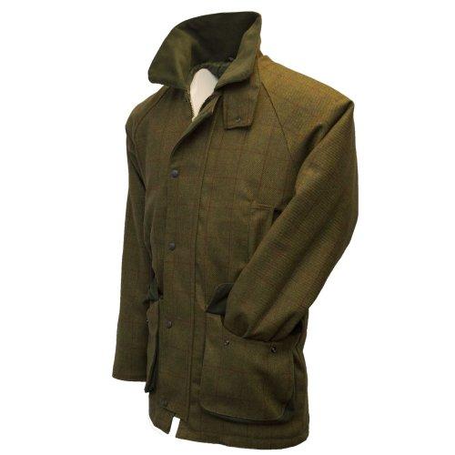 (2XL) Walker & Hawkes - Mens Derby Tweed Shooting Hunting Country Jacket - Red Stripe