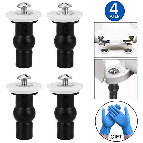 4 Pack Toilet Seat Screws Toilet Seat Hinges Expanding Rubber Top Nuts Screw Fixings Fix WC Blind Hole Fittings