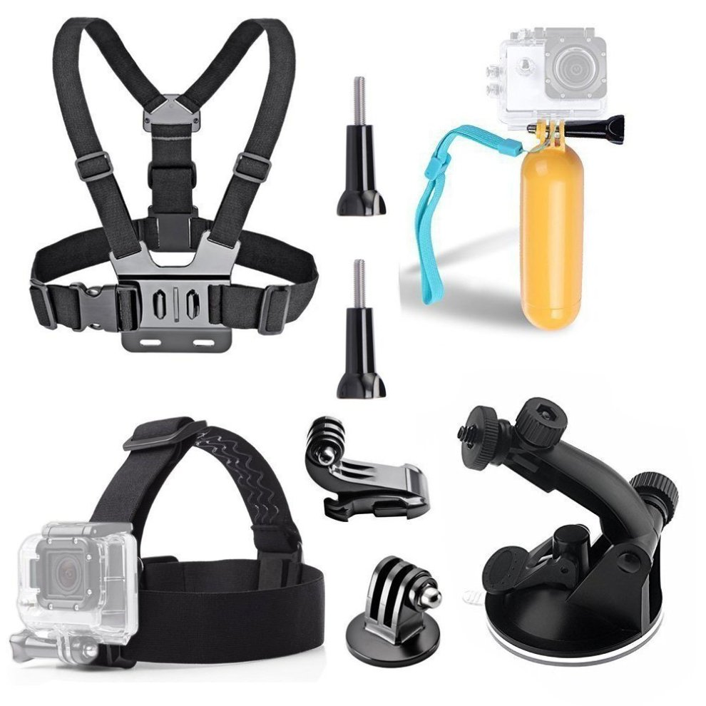 New Action Camera Accessories Kits fit AKASO EK7000 Brave 4 Crosstour Campark