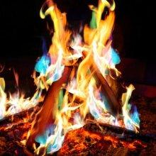 3X Magic Coloured Flames Bonfire Sachets Fireplace Mystical Fire Trend