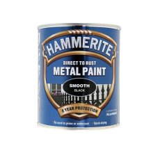 Hammerite SFBL750 Direct to Rust Smooth Finish Metal Paint Black 750ml