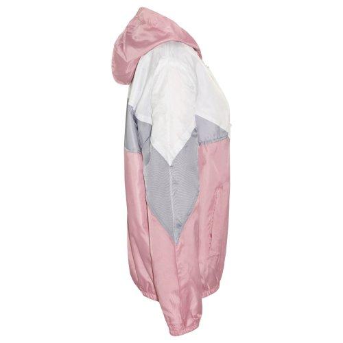 Kids Girls Boys Windbreaker Jackets Baby Pink Panelled Hooded Raincoat 5-13 Year