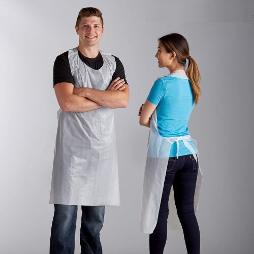 20 Disposable Aprons waterproof antibacterial Kitchen Laboratory Hospital