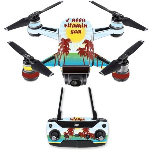 MightySkins DJSPCMB-Vitamin Sea Skin Decal for DJI Spark Mini Drone Combo Sticker - Vitamin Sea