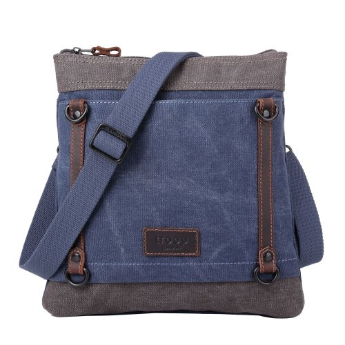 TRP0467 Troop London Classic Canvas Messenger Bag | Buy Bags Online | Canvas Messenger Bags | leather canvas backpack