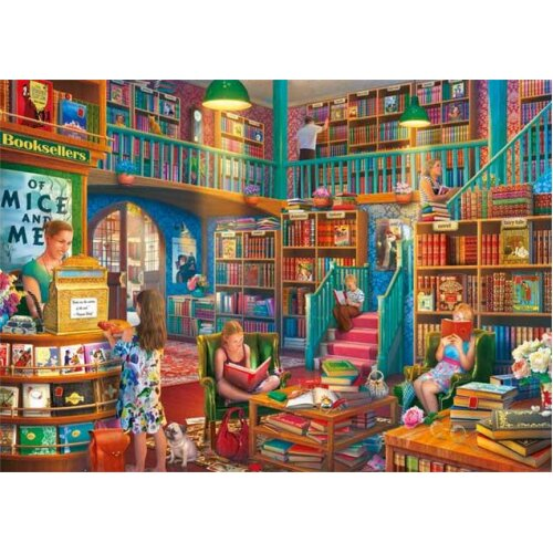 Falcon Deluxe Afternoon at the Bookshop Jigsaw Puzzle (1000 Pieces)