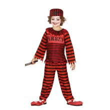 Boys Childrens Pyscho Clown Halloween Fancy Dress Costume 7-9 years