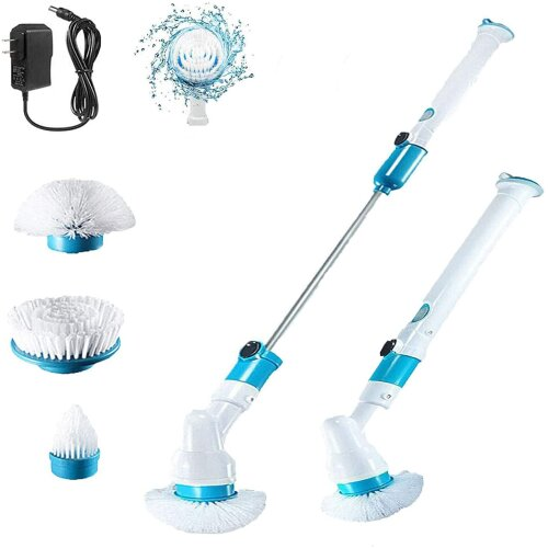 Electric Spin Scrubber Cordless Handheld Floor 3Replaceable Clean Head