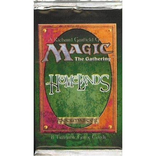 Magic The Gathering Card Game Homelands Booster Pack 8C