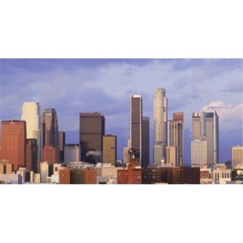 Skyscrapers in a city  City Of Los Angeles  Los Angeles County  California  USA Poster Print by  - 36 x 12
