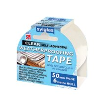 Sylglas Clear Weatherproofing Tape 50mm x 6m Roll SYLWT506