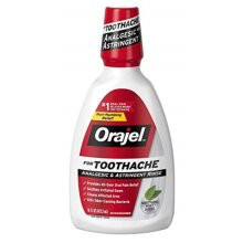 Orajel Soothing Toothache Rinse, Mint, 16 Fl.Oz