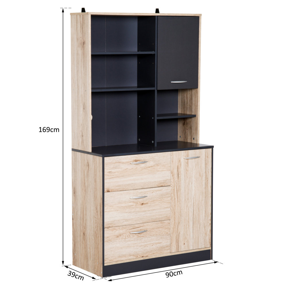 Freestanding Kitchen Furniture Cabinet: HOMCOM Wooden Freestanding Kitchen Multi Purpose Storage
