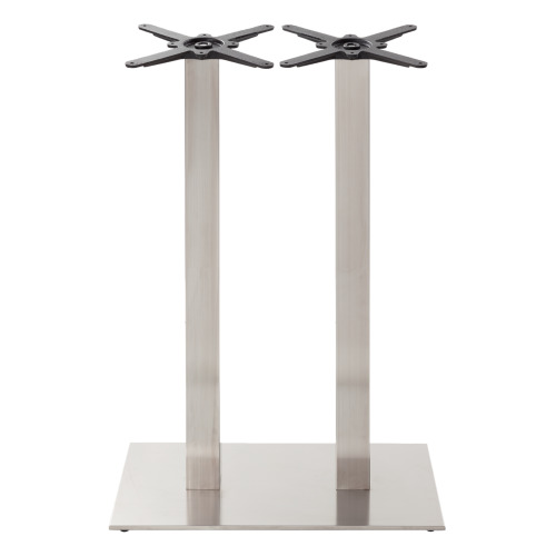 Rectangular s/steel table base - Twin - Poseur height - 1050 mm
