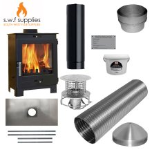 Flavel Arundel 4.9kw Multi Fuel Stove & Complete 9m Liner Install Kit