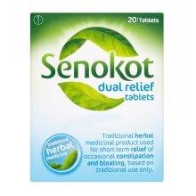 Senokot Dual Relief 20 Tablets