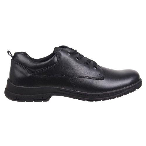 Kangol Churston Lace Up Junior Shoes Boys Black School Leather Footwear