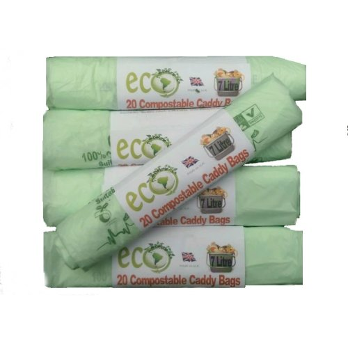 100pc 7L Compostable Caddy Bags | Biodegradable Food Waste Bags
