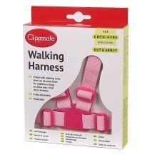 Clippasafe Walking Harness with Reins Pink
