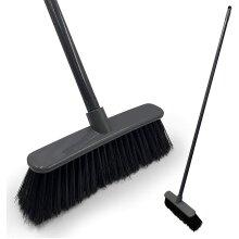 Soft Indoor Broom Sweeping Brush Long Handled Kitchen Wooden Floor