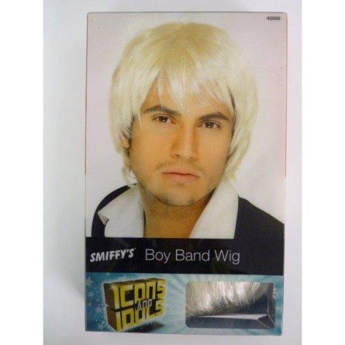 Blonde Boy Band Wig Short-Style Adult Mens Smiffys Fancy Dress Costume