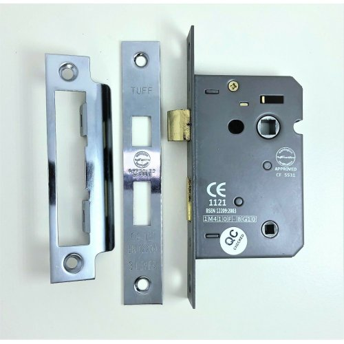 Fire Rated Bathroom Mortice Door Locks Set CE BS Rated 3 Lever 63mm or 75mm
