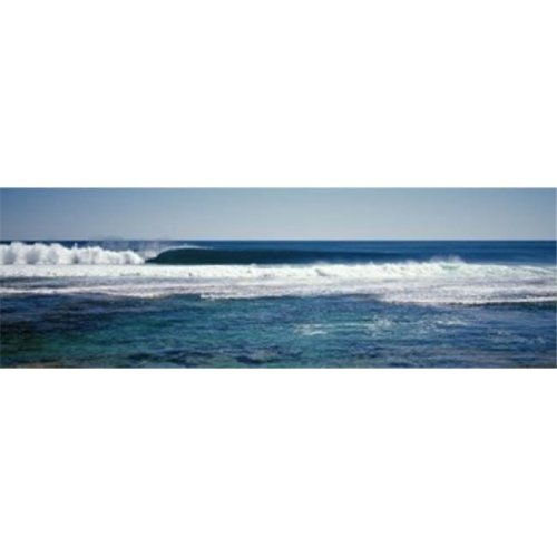 Wave splashing in the sea Poster Print by  - 36 x 12