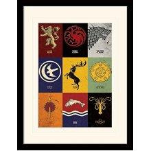 Game of Thrones (Sigils 30x40 cm Mounted & Framed