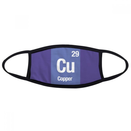 Cu Copper Chemical Element Science Mouth Face Anti-dust Mask Anti Cold Warm Washable Cotton Gift
