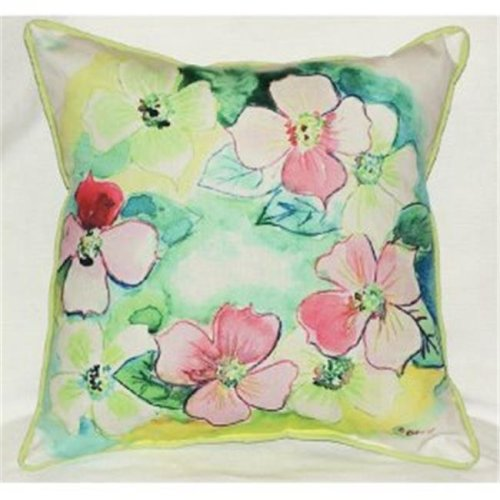 Flower Wreath Indoor & Outdoor Throw Pillow, 18 x 18 in.
